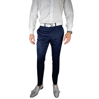Navy Blue Lucentezza Trousers