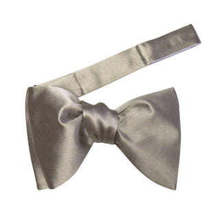 Champagne Oro Satin Jumbo Pre Tied Butterfly Bow Tie