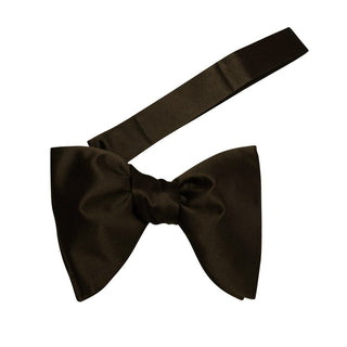 Charcoal Satin Jumbo Pre Tied Butterfly Bow Tie