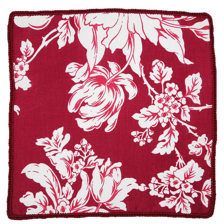 Crimson Bloom with Burgundy Signature Borders
