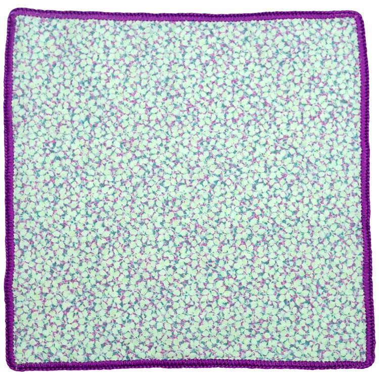 Floral Lilla Puntinismo with Purple Signature Border