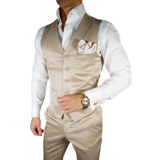 Champagne Oro Lucentezza Double Breasted Waistcoat