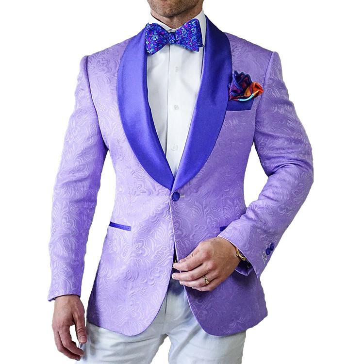 S by Sebastian Lavender Paisley Dinner Jacket