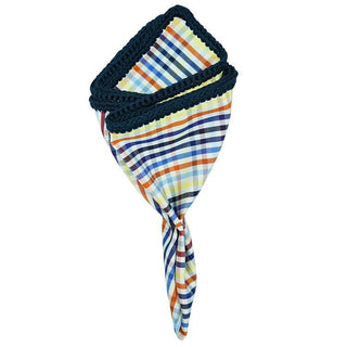 Primavera Multicolor with Navy Blue Signature Border