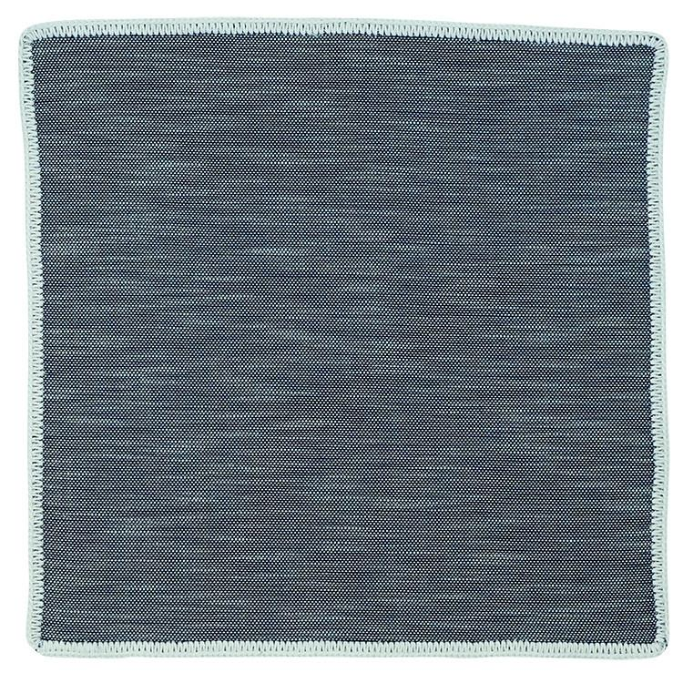 Denim Du Volte with White Signature Border