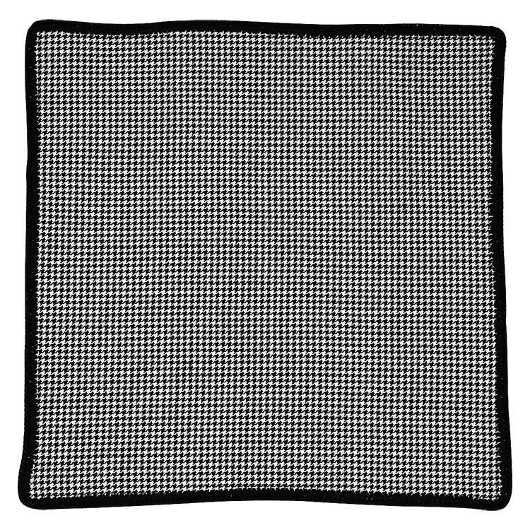 Houndstooth Cachemire with Black Signature Border
