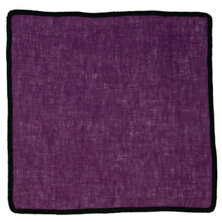 Plum Mezzanotte with Black Signature Border