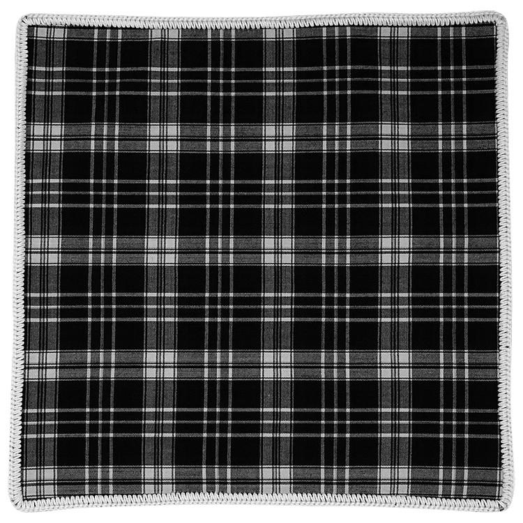 Tartan Inchiostro with White Signature Border