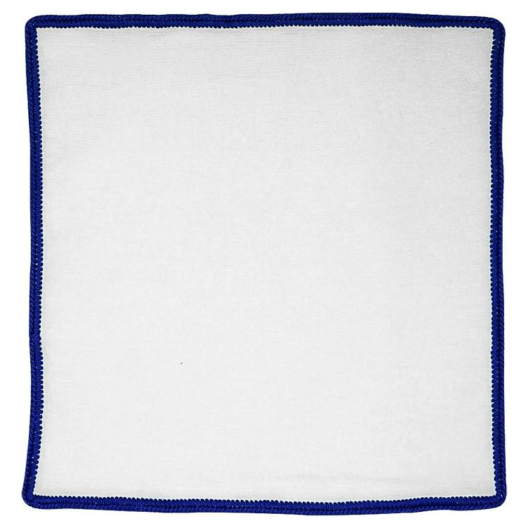 White Nuvola with Royal Blue Signature Borders