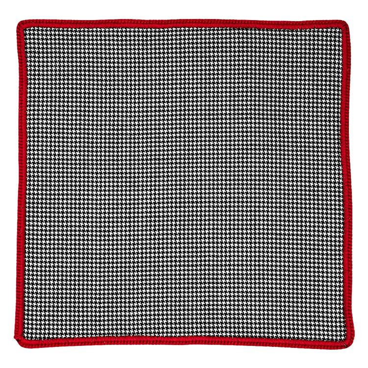 Houndstooth Cachemire with Red Signature Border