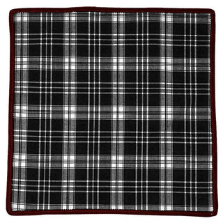 Tartan Inchiostro with Maroon Signature Border