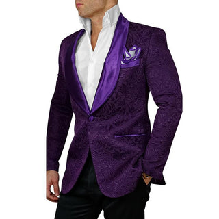 S by Sebastian Black Paisley Dinner Jacket