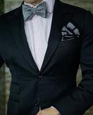 Scacchi Houndstooth Bow Tie