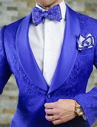 S by Sebastian Royal Blue Paisley Dinner Jacket