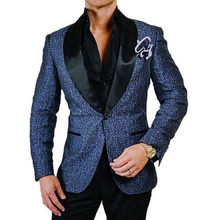 S by Sebastian Violet Silk Copia Dinner Jacket