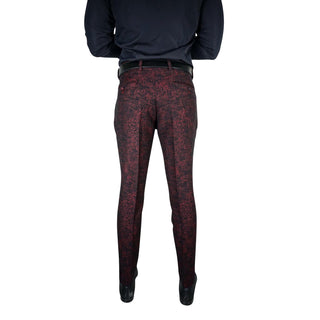 Midnight Burgundy Tweed Trousers
