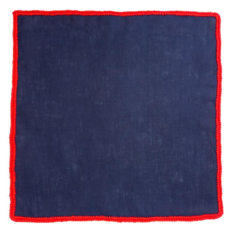 Navy Scuro with Red Signature Border