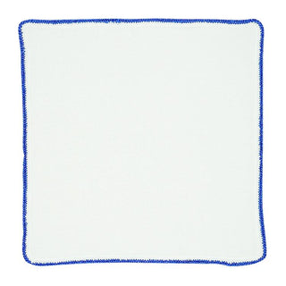 White Nieve With Royal Blue Flake Signature Border