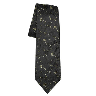 Mini Floreale In Black Oro Luxury Necktie - Sebastian Cruz Couture