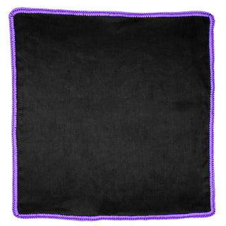 Black Raso with Purple Signature Border