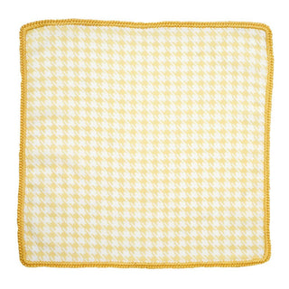 Canarino Houndstooth with Mustard Yellow Signature Border