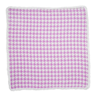 Orchid Houndstooth with White Signature Border