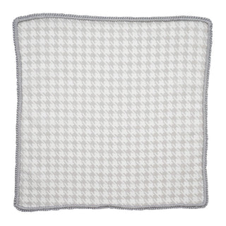 Taupe Houndstooth with Grey Signature Border