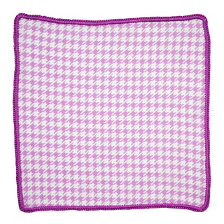 Orchid Houndstooth with Violet Signature Border