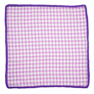 Orchid Houndstooth with Purple Signature Border