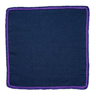 Navy Scuro with Purple and Navy Flake Signature Border
