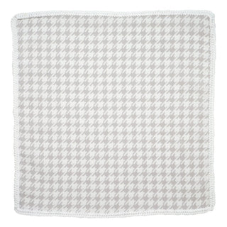 Taupe Houndstooth with White Signature Border