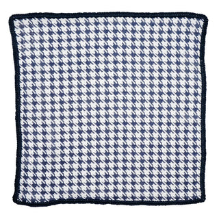 Navy Houndstooth with Navy Blue Signature Border