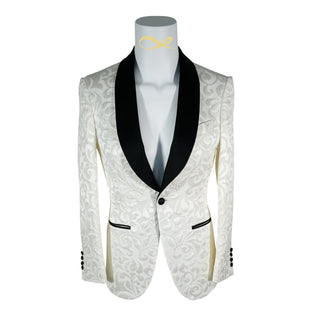 White & Black Paisley Dinner Jacket