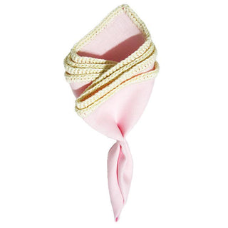 Agate Denti Di Leone with Pink Signature Border - Sebastian Cruz Couture