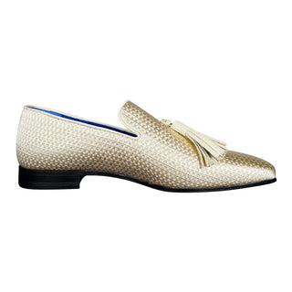 Gold Diamante Tassel Loafer
