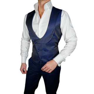 S by Sebastian Navy Brillante Double Breasted Waistcoat