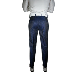 S by Sebastian Navy Blue Stellato Trousers