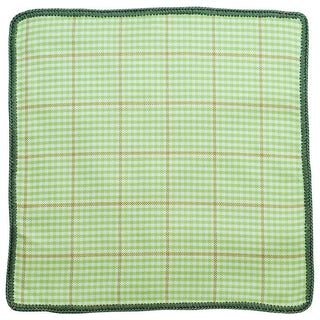 Plaid Asparagi with Olive Green Signature Border
