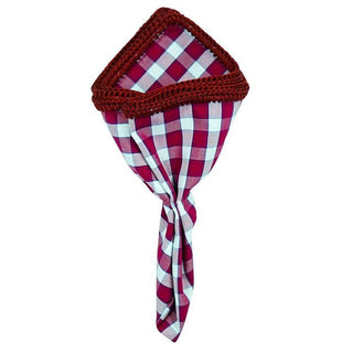Plaid Sangria Rosso with Burgundy Signature Border