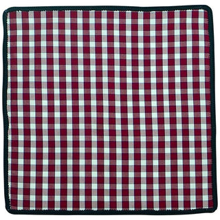 Plaid Sangria Rosso with Navy Blue Signature Border