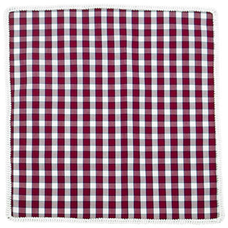 Plaid Sangria Rosso with White Signature Border