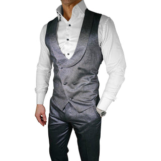 Iris Lino Tweed Double Breasted Waistcoat