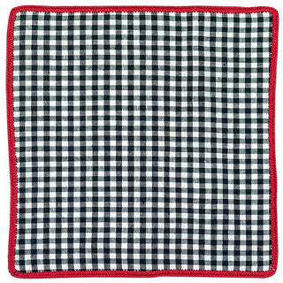 Tartan Navy Grano with Red Signature Border