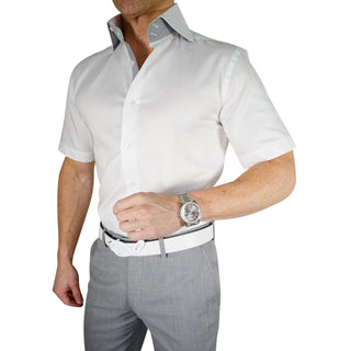 White Tungsten Short Sleeve Shirt