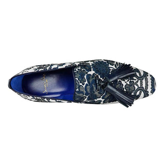 Damascus Series Lapis Tassel Loafer