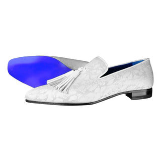 White Stella Tassel Loafer