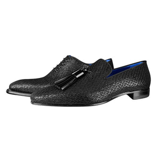 Black Diamante Tassel Loafer