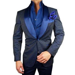 S by Sebastian Navy Blue Stellato Dinner Jacket
