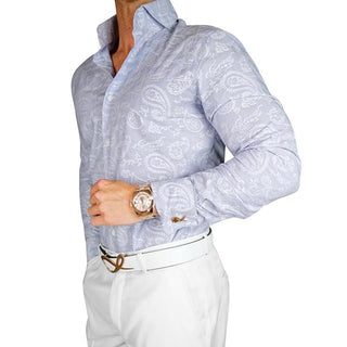 S by Sebastian Powder Blu Paisley Dress Shirt