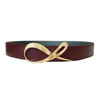 Classica Grafite Bordo Rose Gold Belt